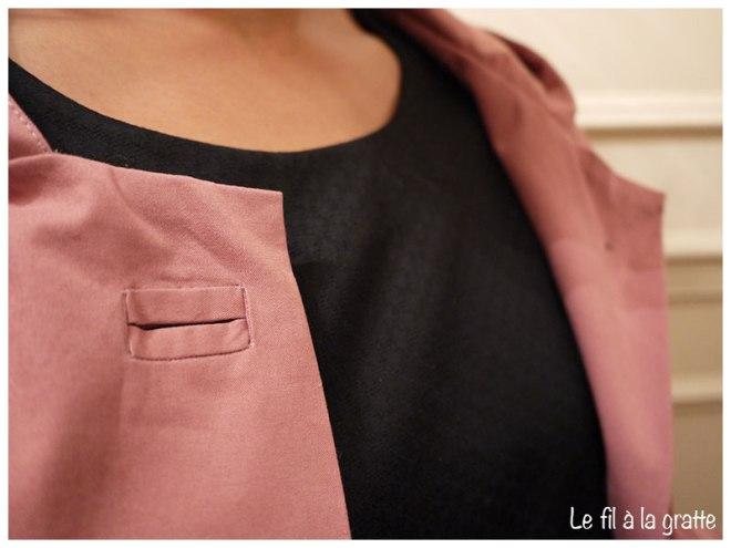 Waver Jacket - Cool Pharaon - Le fil à la gratte - Détail boutonnière