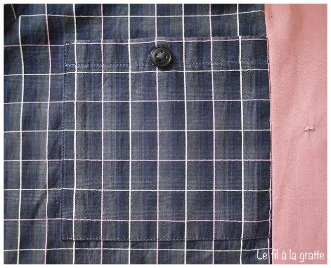 Le fil à la gratte - Cool pharaon - Waver Jacket détail poche - Papercut Patterns